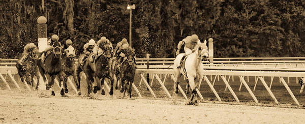 Race Horse Art Print featuring the photograph Home Stretch by Patrick Flynn