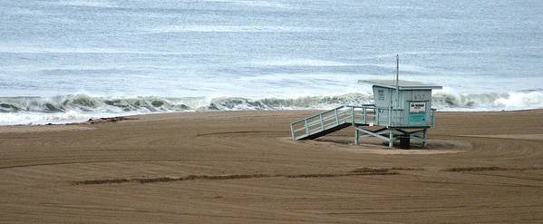 Beach Art Print featuring the photograph Life Guard Stand - Color by Shari Chavira