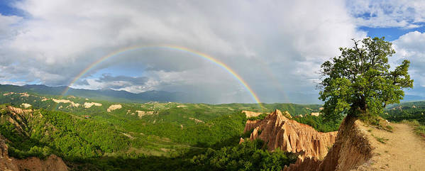 Landscape Art Print featuring the photograph Magical Rainbow Panorama by Presiyan Petkov