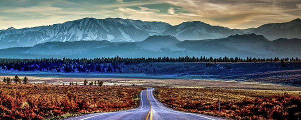 White Peak Mountains Art Print featuring the photograph View From A Windy Road by Az Jackson