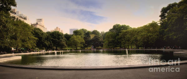 Pond Art Print featuring the photograph Around The Central Park Pond by Madeline Ellis
