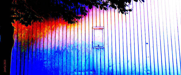 Shed Art Print featuring the photograph Location 54 North A Shed Full Of Surprises by Sir Josef - Social Critic - Maha Art