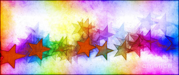 Rainbow Art Print featuring the photograph All The Stars Of The Rainbow by Judi Bagwell