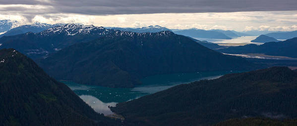 Frederick Sound Print featuring the photograph Coastal Range Fjords by Mike Reid