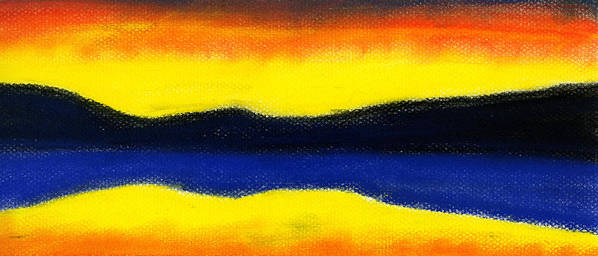 Hakon Art Print featuring the painting Colours Of Sky by Hakon Soreide