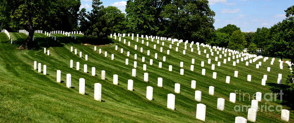 Arlington Cemetry Art Print featuring the photograph Symetry by Pravine Chester