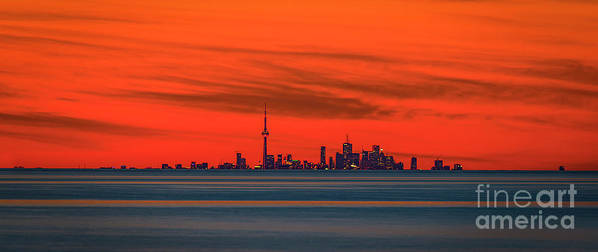 Toronto Skyline Art Print featuring the photograph From Across The Lake by Serge Chriqui