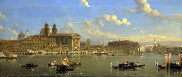 David Roberts Art Print featuring the painting The Giudecca. Venice by David Roberts