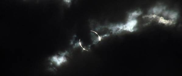 Annular Eclipse Art Print featuring the photograph Annular Eclipse Ring Of Fire 2012 by Scott McGuire