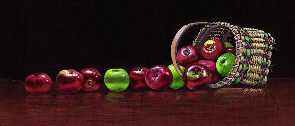 Still Life Art Print featuring the painting Apples by JoAnne Castelli-Castor