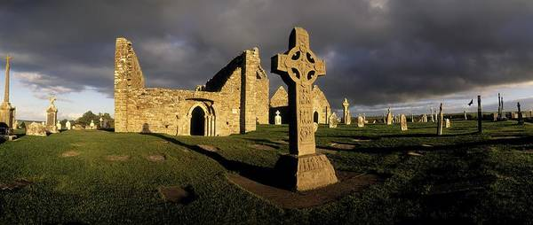 Abbey Art Print featuring the photograph Clonmacnoise Monastery, Co Offaly by The Irish Image Collection