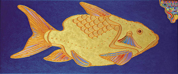 Animal Art Art Print featuring the painting Egyptian Fish by Bob Coonts