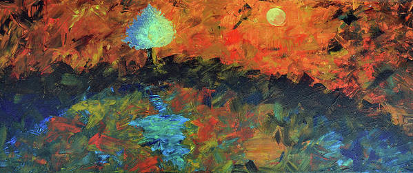 Landscape Art Print featuring the painting Wishing Tree by Nikita Jariwala