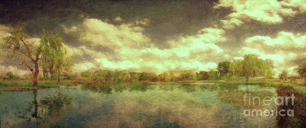 Scenic Art Print featuring the photograph The Lake - Panorama by Leigh Kemp