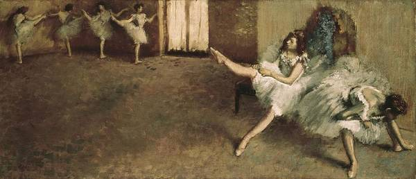 Horizontal Art Print featuring the photograph Degas, Edgar 1834-1917. Before by Everett