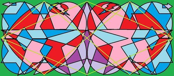 Diamond Print featuring the digital art Green Diamond by Rachael McIntosh