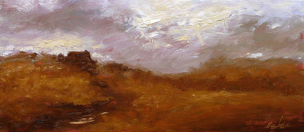 Landscape Paintings Art Print featuring the painting Irish Landscape II by John Silver