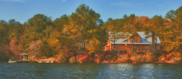 Farm Print featuring the photograph Lake House by Brenda Bryant