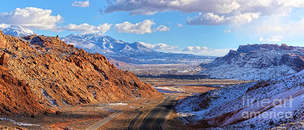 Utah Panorama Art Print featuring the photograph Moab Fault Medium Panorama by Adam Jewell