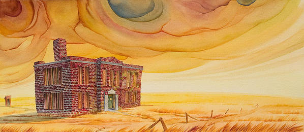 Great Plains Art Print featuring the painting Venanda by Scott Kirby