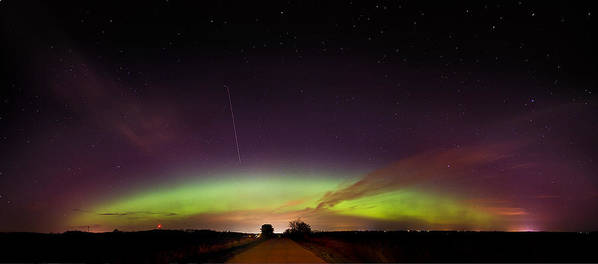 Aurora Art Print featuring the photograph Aurora Borealis In April by Jennifer Brindley