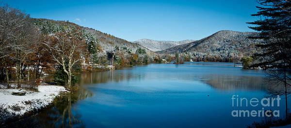 Mountain Art Print featuring the photograph Early Snow In Vermont by Edward Fielding