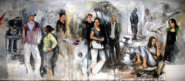 Painting Art Print featuring the painting Artists From Windsor by Leyla Munteanu