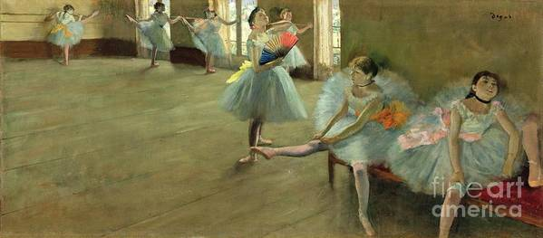 Dancers In The Classroom Art Print featuring the painting Dancers In The Classroom by Edgar Degas