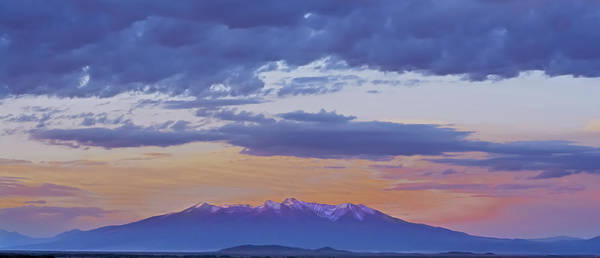 Sangre De Cristo Art Print featuring the photograph Mountain Afterglow by Larry Bodinson