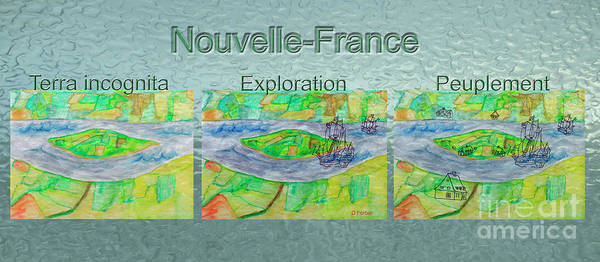 New France Art Print featuring the photograph Nouvelle-france Mug Shot by Dominique Fortier