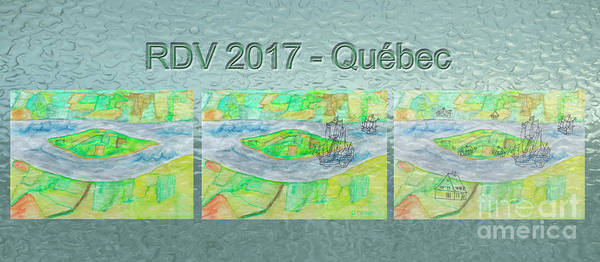 Island Art Print featuring the painting Rdv 2017 Quebec Mug Shot by Dominique Fortier