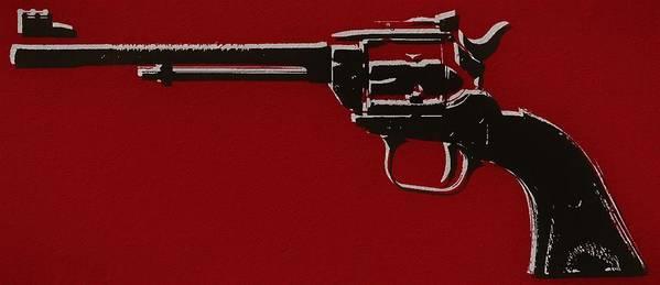 Revolver Pop Art Art Print featuring the mixed media Revolver Pop Art by Dan Sproul