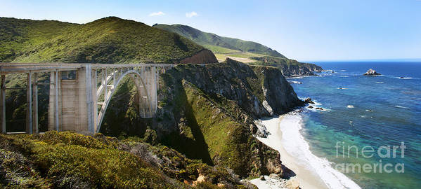 Bixby Bridge Art Print featuring the photograph Bixby Bridge Near Big Sur On Highway One In California by Artist and Photographer Laura Wrede