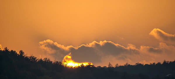 Sunset Art Print featuring the photograph End Of A Perfect Day by Ed Kelley