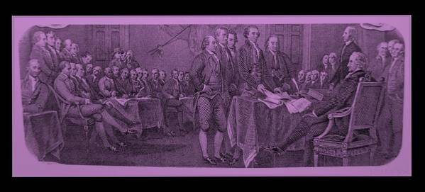 Declaration Of Independence Art Print featuring the photograph Declaration Of Independence In Pink by Rob Hans