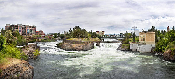 Scenic Art Print featuring the photograph Spokane Falls From The Lincoln Street Bridge by Lee Santa
