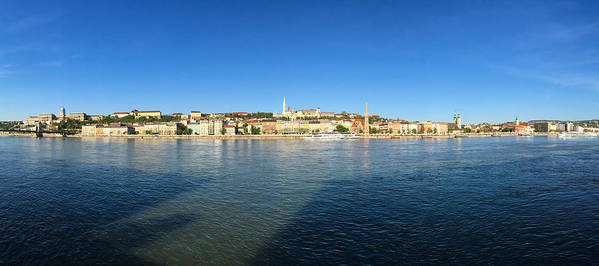 Budapest Art Print featuring the photograph Budapest And Danube Panorama by Matthias Hauser