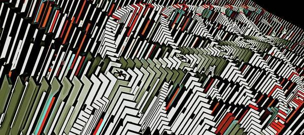 Dominos Art Print featuring the digital art Dominos by David BERNARD