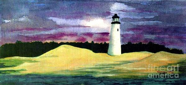 Fine Art Art Print featuring the painting The Beacon by Patricia Griffin Brett