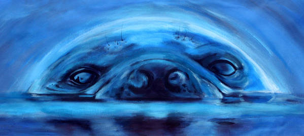 Seal Art Print featuring the painting The Seal by Fiona Jack