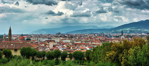 Panoramic cityscape of Florence