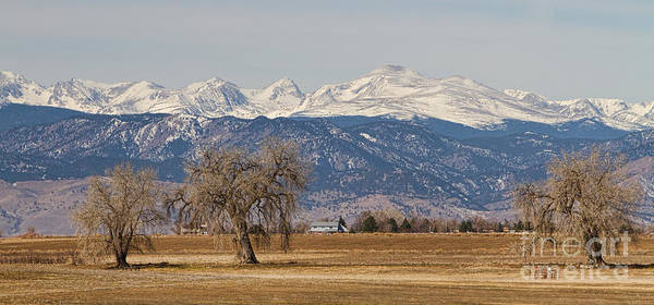 Panorama Print featuring the photograph Colorado Front Range Continental Divide Panorama by James BO Insogna