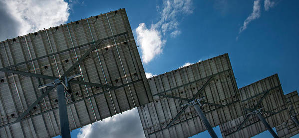 Photography Art Print featuring the photograph Low Angle View Of Solar Panels by Panoramic Images