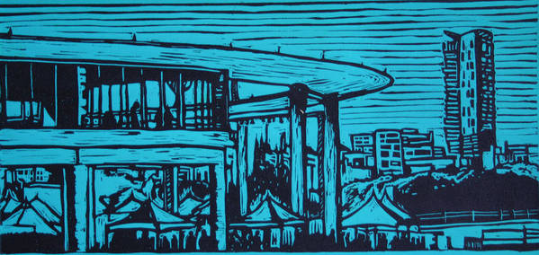Long Center Art Print featuring the drawing Long Center by William Cauthern