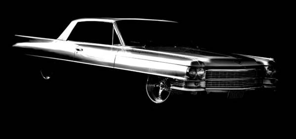 Cadillac Print featuring the photograph 63 Coupe De Ville by motography aka Phil Clark