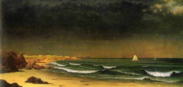 Martin Heade Art Print featuring the digital art Approaching Storm Near Newport Beach by Martin Heade