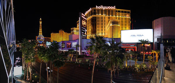 Las Art Print featuring the photograph Paris And Planet Hollywood - Las Vegas - 01131 by DC Photographer