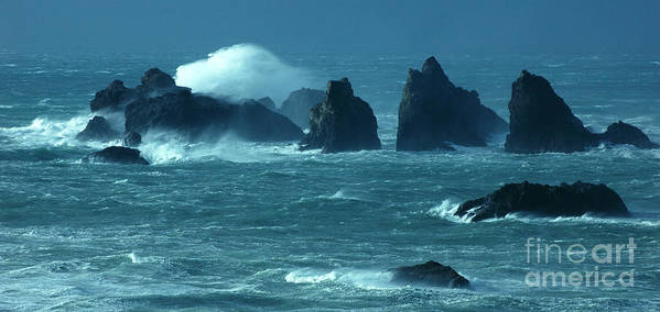 Bandon By The Sea Art Print featuring the photograph Wild Waters 2 by Vivian Christopher