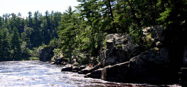 St Croix River Photographs Art Print featuring the photograph Rock Bluffs On The St Croix by Tam Graff
