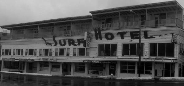 Hotel Art Print featuring the photograph Surf Hotel by Lois Lepisto